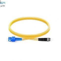 SC UPC to FC UPC Fiberopticbank 247x247 - پچ کورد فیبر نوری، سینگل مود، SC-FC/UPC, Duplex، روکش PVC، قطر ۲mm