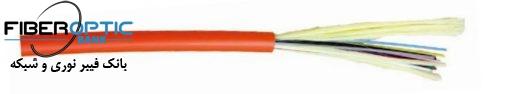 کابل فیبر نوری 12 کور Premium line ، سینگل مود, Indoor, Tight Buffer/PVC