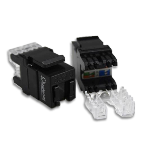 کیستون شبکه CAT6 FTP Qualenet، زاویه 180 بدون ابزار، Tooless