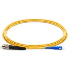 پچ کورد فیبر نوری SC-FC /UPC ، سینگل مود، Simplex، روکش PVC، قطر 3mm