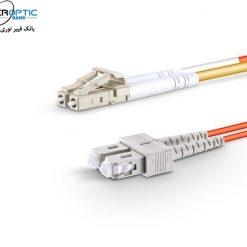 lc sc mm duplex fiberopticbank 247x247 - پچ کورد فیبر نوری SC-LC /UPC ، مالتی مود، ,OM2 , Duplex، روکش PVC، قطر 3mm