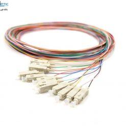 sc mm pigtal 12core fiberopticbank 247x247 - پیگتیل فیبر نوری SC /UPC ، مالتی مود، 12Core, OM2، روکش PVC، قطر 0.9mm