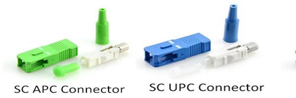 SC APC connector UPC connector - تفاوت کانکتور APC با کانکتور UPC