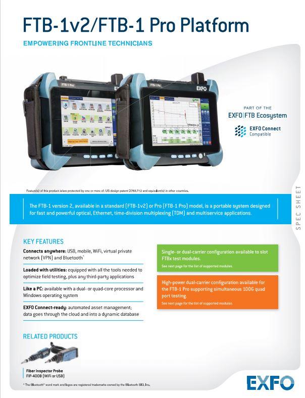 دستگاه OTDR EXFO FTB-1