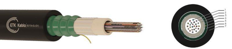 کابل فیبر نوری 12 کور LSZH