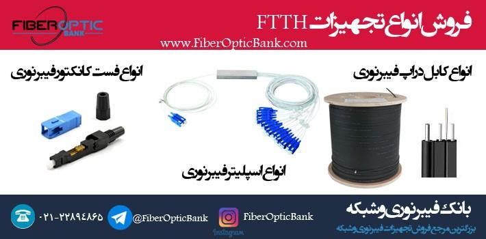 فروش انواع تجهیزات FTTH در بانک فیبر نوری و شبکه