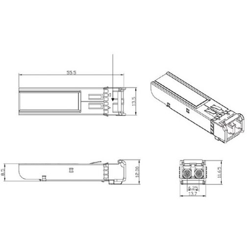 ماژول فیبرنوری مالتی مود 100/1000 SFP FTM-8120C-SLG