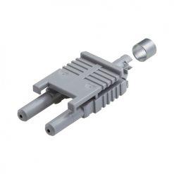 Plastic fiber optic connector