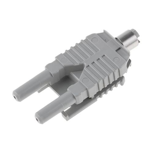 Plastic fiber optic duplex connector